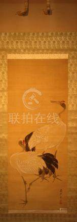 Chinese Scroll Painting of Crane - Wang Wei Zheng