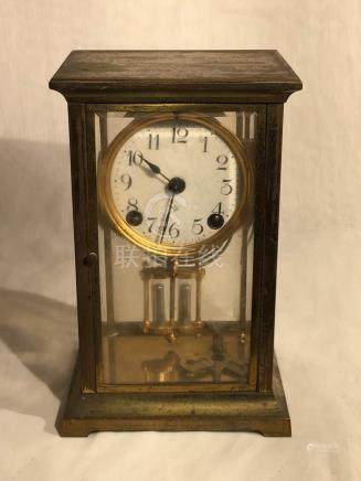 Ansonia Bronze Cased Clock