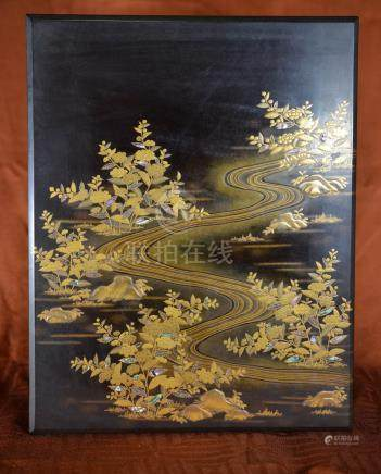 Large Japanese lacquer Box with MOP