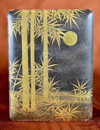 Japanse Lacquer Box with Bamboo Motif