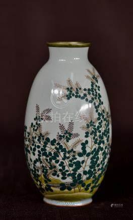 Japanese Cloisonne Vase with Floral Motif