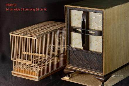 Rare Japanese Bird Cage set with Carring Box - Jiche