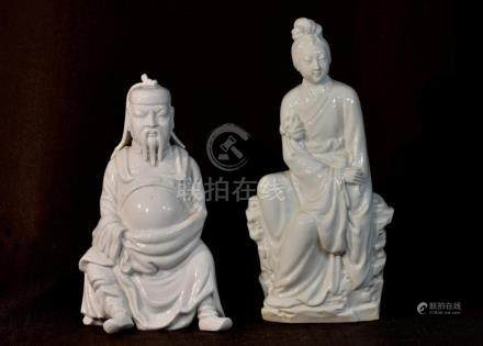 Group of Chinese Blanc de Chine Porcelain Figurines