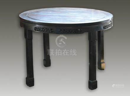Chinese Round Rosewood Dinner Table