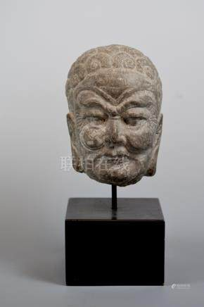 Chinese Stone Lohan Head