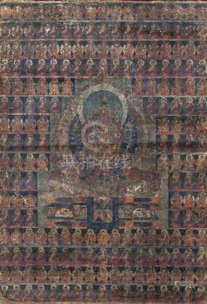 TWO THANGKA WITH MAITREYA, Ladakh, ca. 17th ct. - Property from an important South German private co