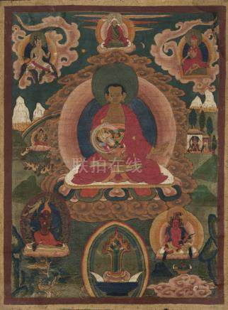 TWO THANGKAS WITH TARA AND SHEN-RAB, FOUNDER OF THE BÖN TRADITION, Tibet, 18th/19th ct., both mounte