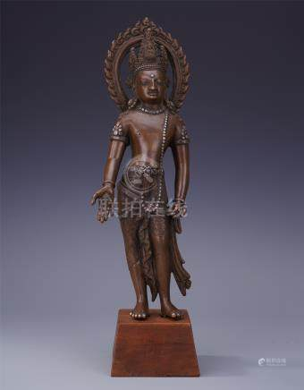 NAPELESE BRONZE STANDING BUDDHA
