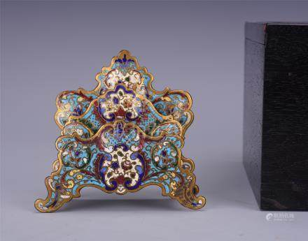 CHINESE CLOISONNE FLOWER SCHOLAR'S BRUSH HOLDER