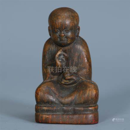 CHINESE BAMBOO CARVED BOY SEAL