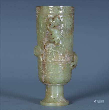 CHINESE ANCIENT CELADON JADE CUP
