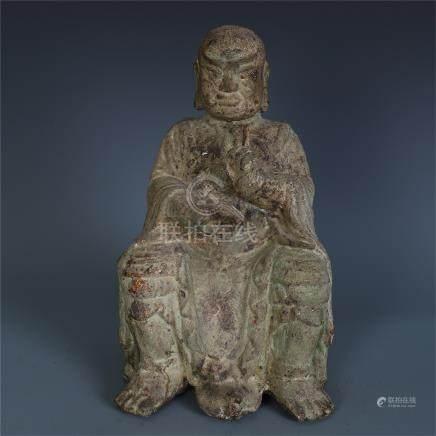 CHINESE BRONZE SEATED BUDDHA MING DYNASTY