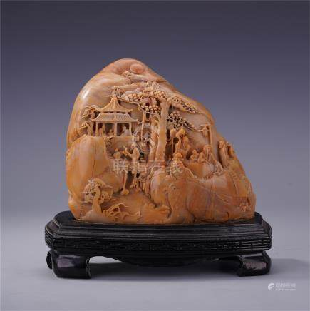 CHINESE TIANHUANG STONE SCHOLAR'S ROCK