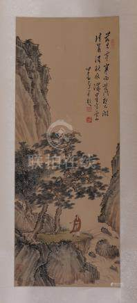 CHINESE SCROLL PAINTING OF MOUNTIAN VIEWS