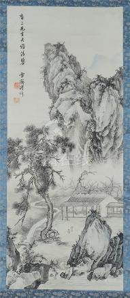 CHINESE SCROLL PAINTING OF