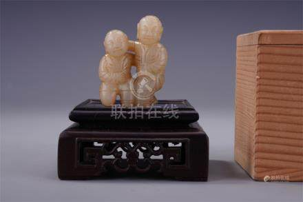 CHINESE JADE BOYS TABLE ITEM