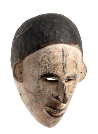 A PAINTED WOOD MASK