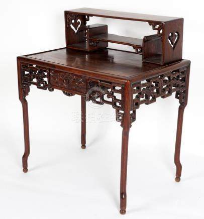 19th Century Chinese Carved Rosewood Desk