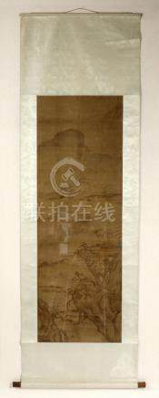 Framed Qing Chinese Silk Scroll