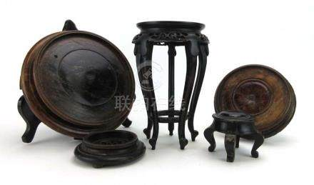 A Chinese carved stand, h.