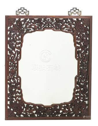 Chinese hongmu mirror