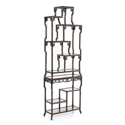 Two-module Chinese bookcase