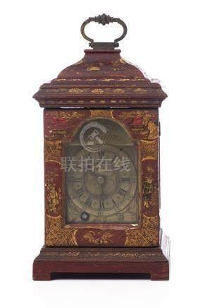 Stephen Asselin London, horloge décorative à boîte en laque dans le goût chinois
