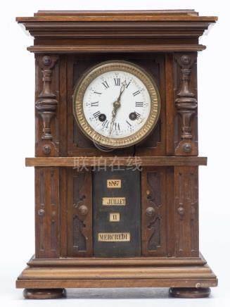 Pendule Henri II avec mécanisme de calendrier