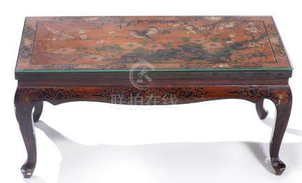 Table basse rectangulaire en laque de Chine