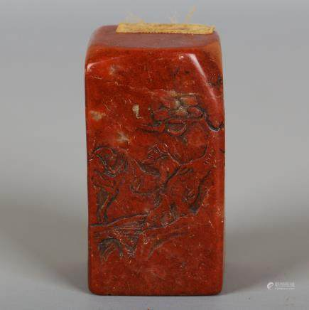 CHINESE JIXUE SOAPSTONE CARVED SEAL