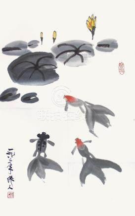 吳作人  金魚