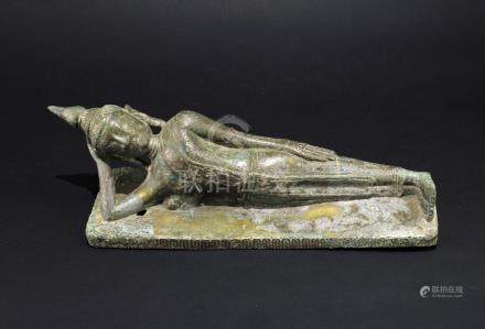 Copper Thai Reclining Buddha Statue