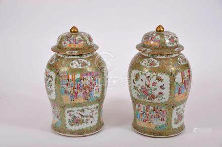 A Pair of Pots with Cover