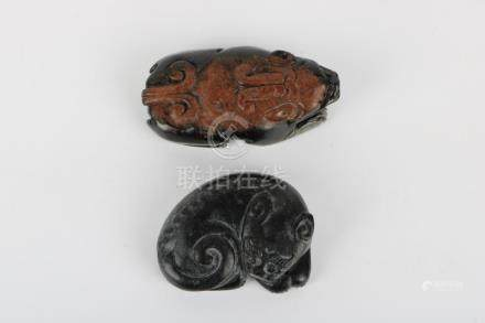 Two jade ornaments