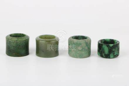 Four Jade Thumb Ring