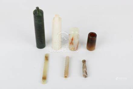 Seven jade pieces