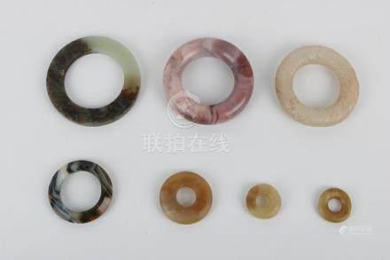 Seven jade rings