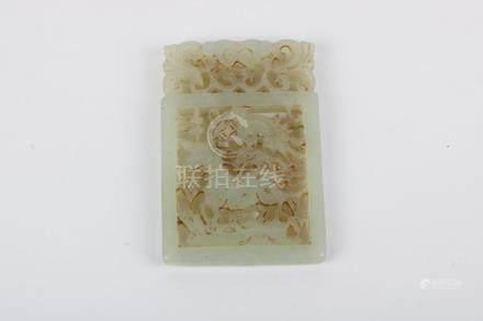 White jade pattern card