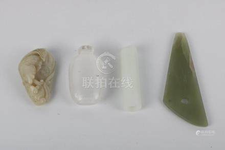 Glass snuff bottle and Jade