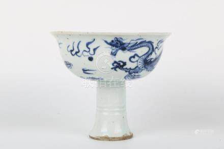 Qianlong blue and white cup