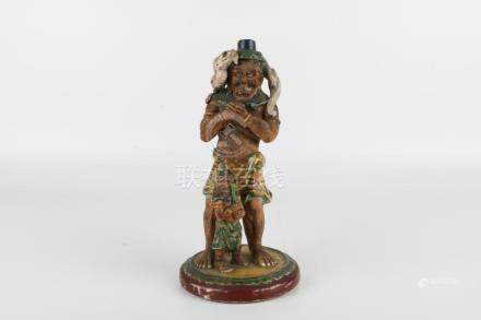 Qing Dynasty Porcelain Statue