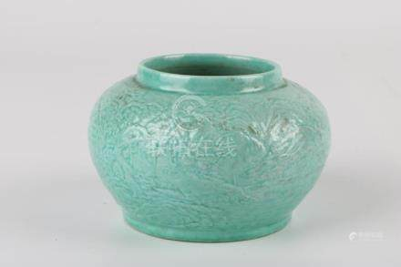 Chen Guozhi Carved Porcelain Jar