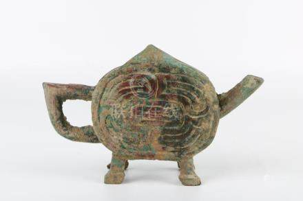 Early Ming Dynasty Bronze Pot