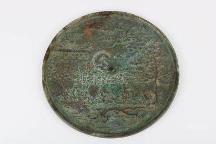 Early Ming Dynasty Bronze Mirror