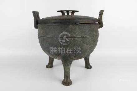 Early Ming Dynasty Bronze Tripod