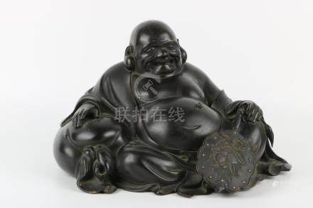 Qing Dynasty Bronze Maitreya Buddha Statue
