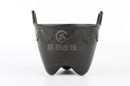 Qing Dynasty Bronze Incenser Burner Xuande Mark
