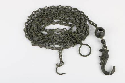 Qing dynasty bronze chain