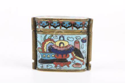 Qing dynasty cloisonne box