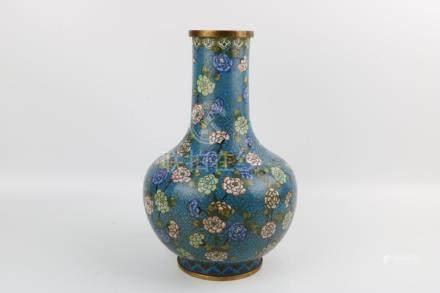 Qing Dynasty Cloisonne Bottle